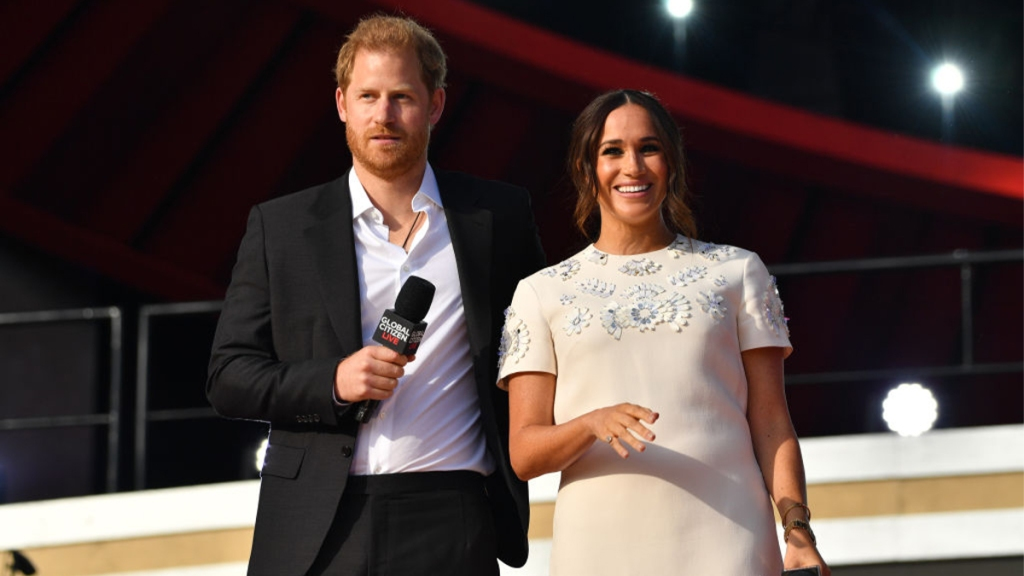 Harry and Meghan at an event