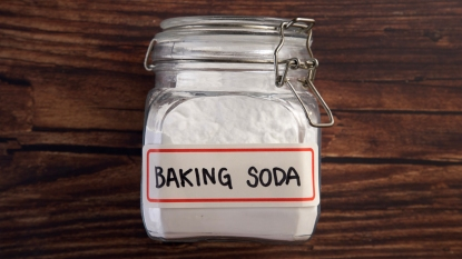 Baking soda in a jar