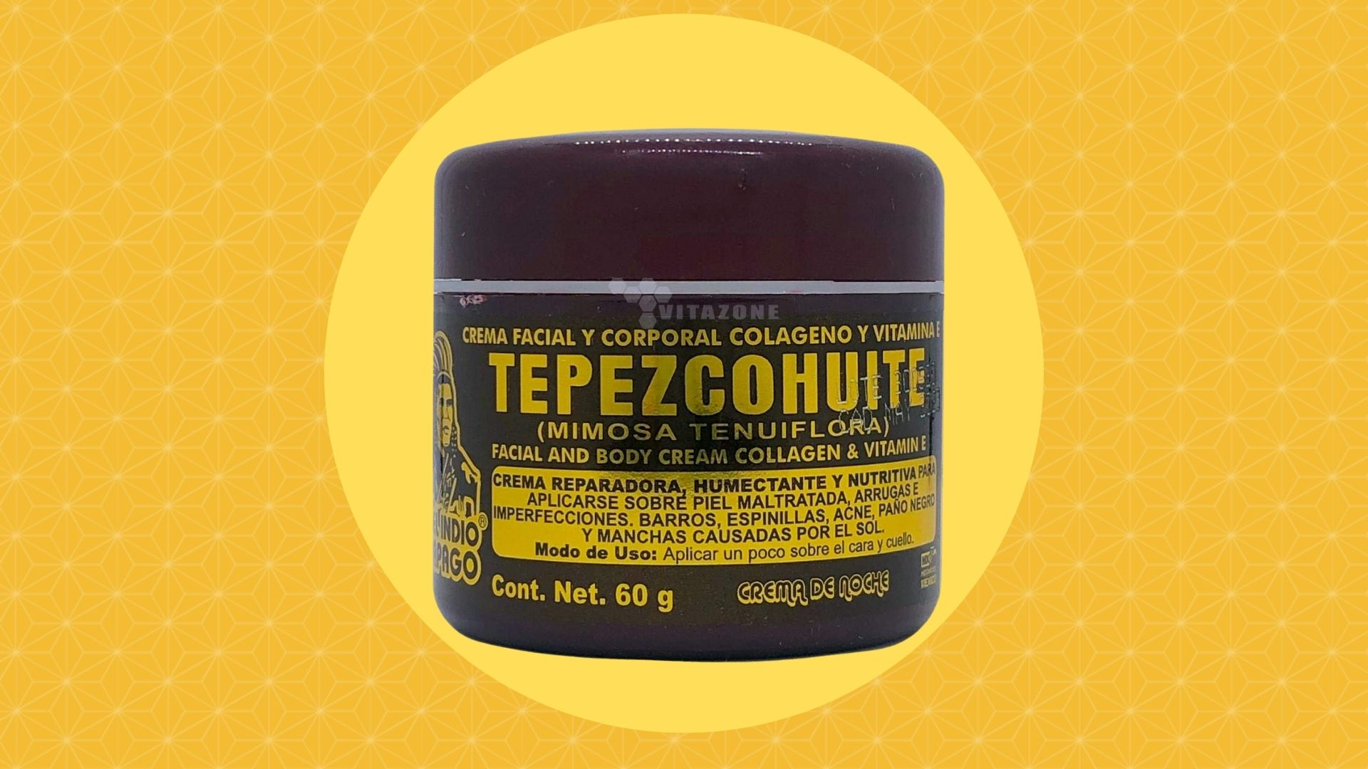 Indio Papago Crema de Tepezcohuite