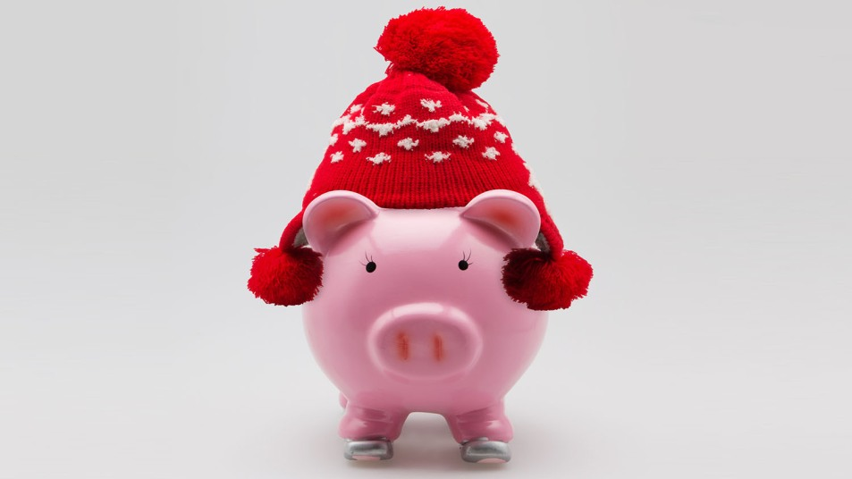 winter piggybank