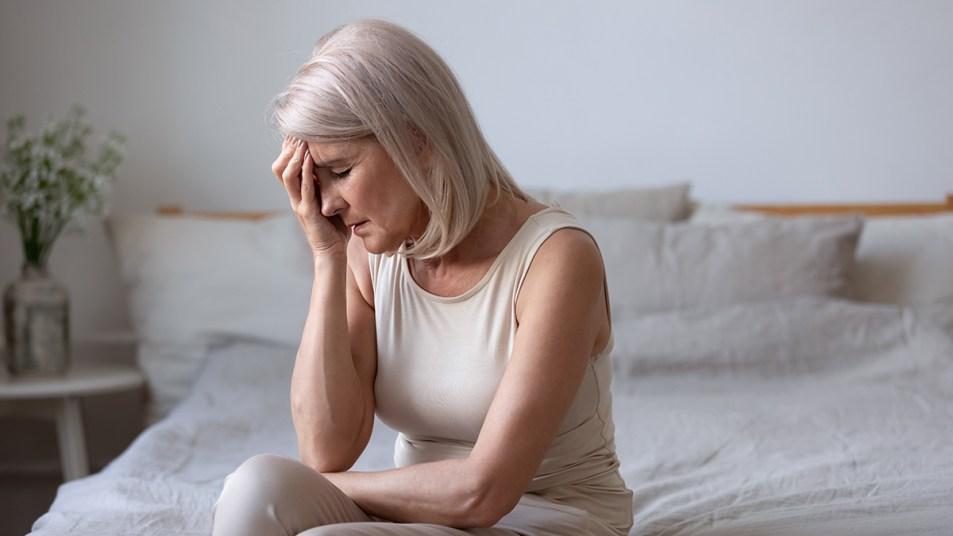 Woman feeling uneasy
