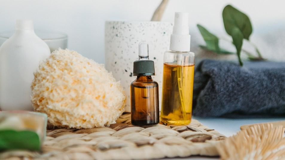 organic spa bathroom items
