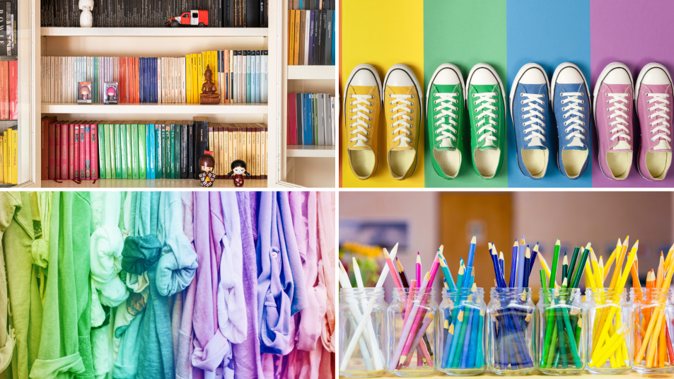 using color to organize your home