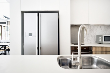 Kitchen in a modern luxury condo