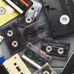 vhs and casette tapes