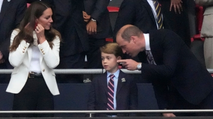 The royals at a soccer match