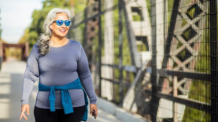 Woman taking a walk