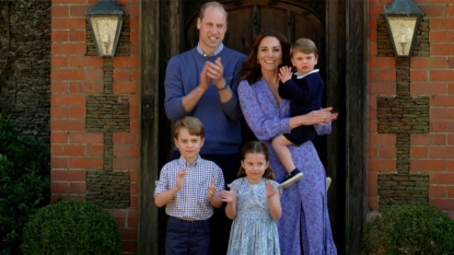 William and Kate with their children