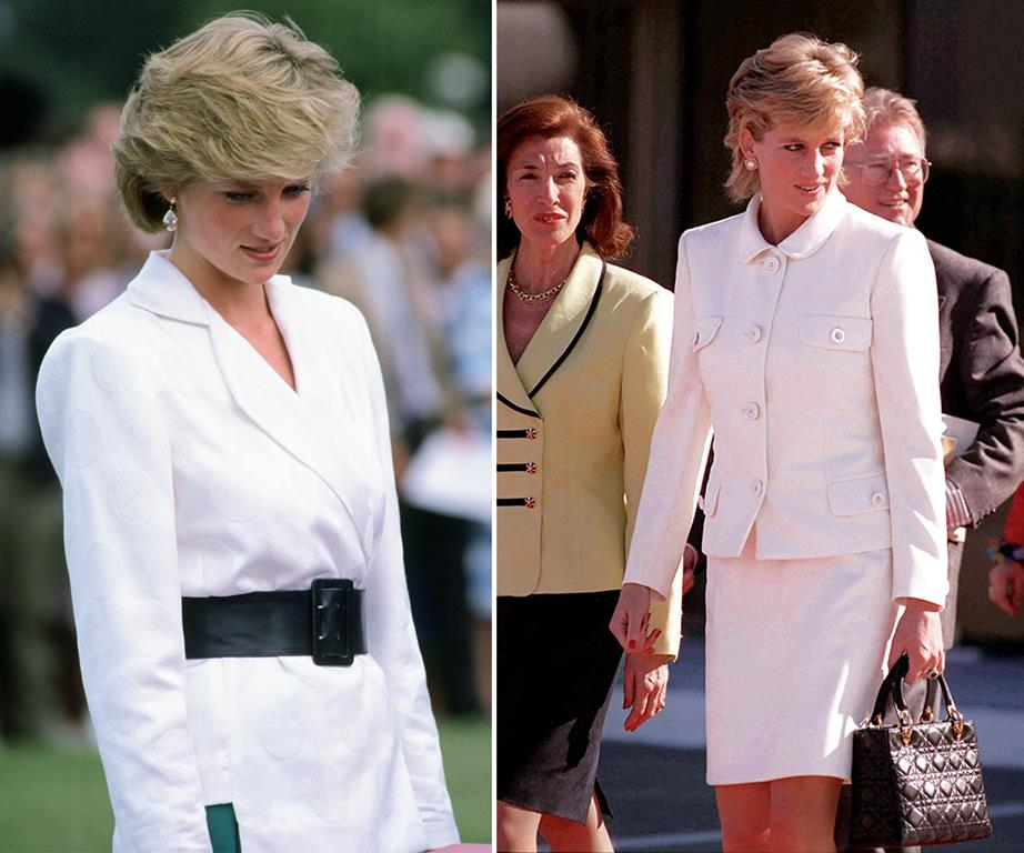 Princess Diana's white blazers