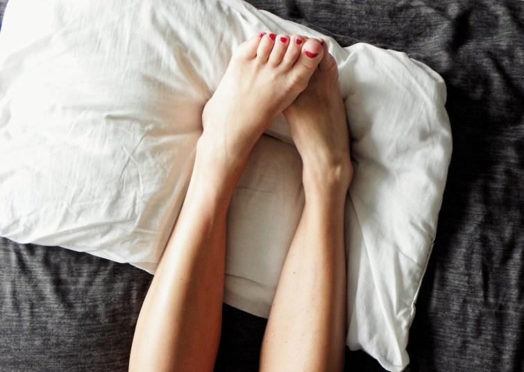 feet on pillow