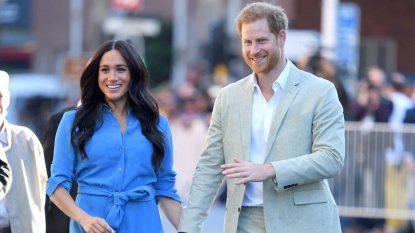 Meghan and Harry walking together