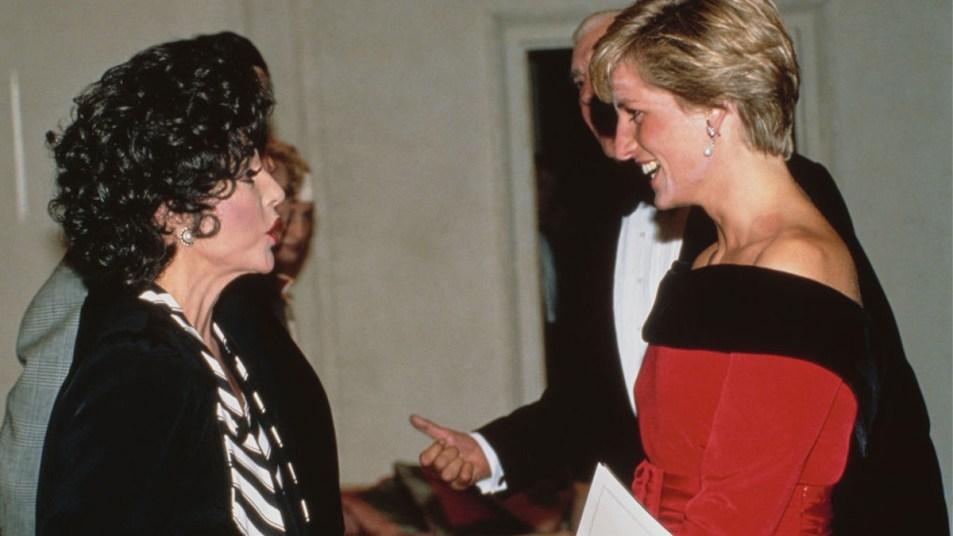 Princess Diana and Joan Collins