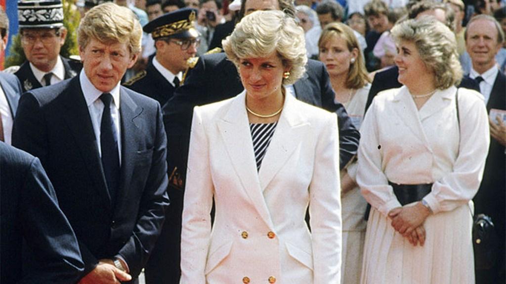 Princess Diana attending Cannes Film Festival