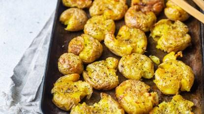 Roasted smashed potatoes thumbail