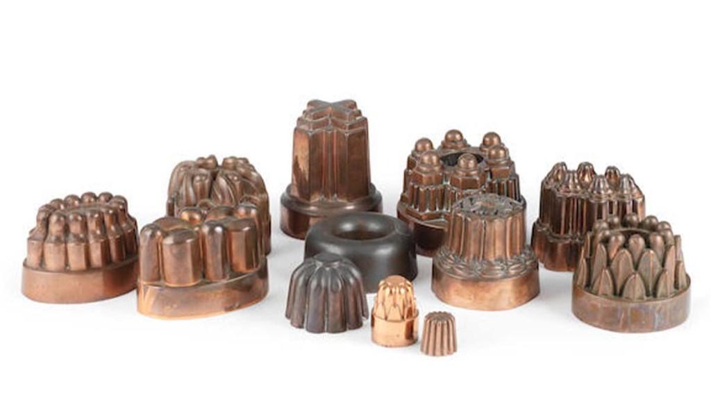 Benham and Froud copper dessert molds