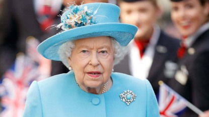 The Queen Visits The British Airways Headquarters To Mark Their Centenary