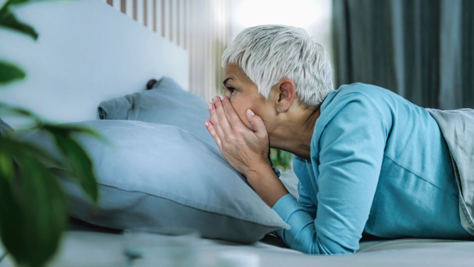woman not able to sleep