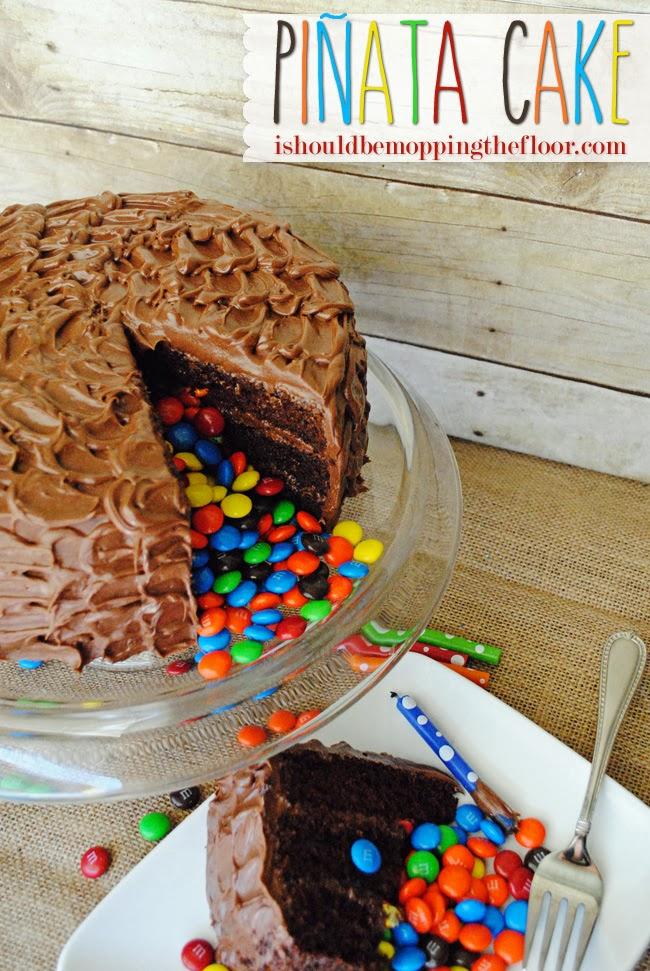 M&M Pinata Cake