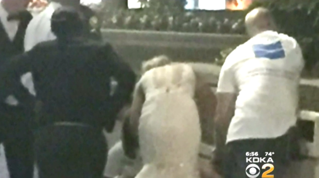 bride saves life after wedding