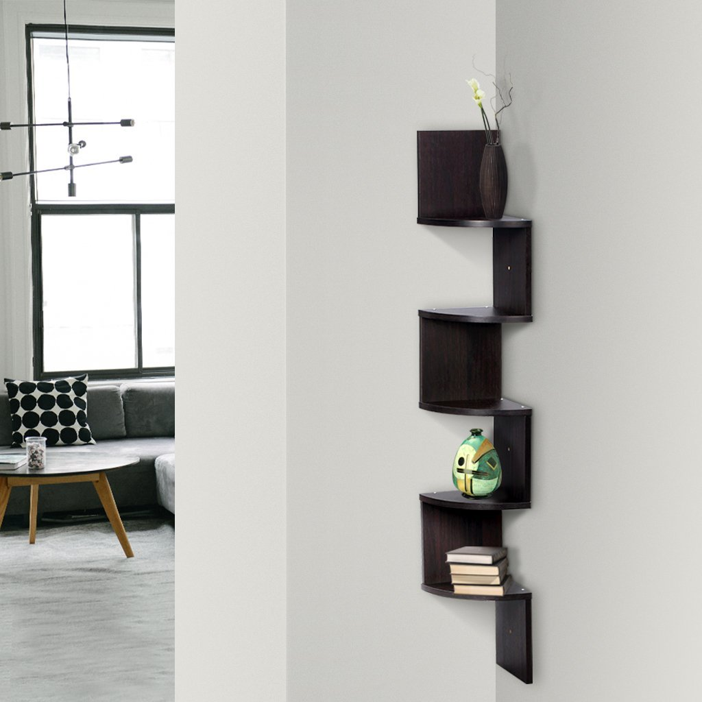 Finether 5-Tier Zig Zag Floating Wall Corner