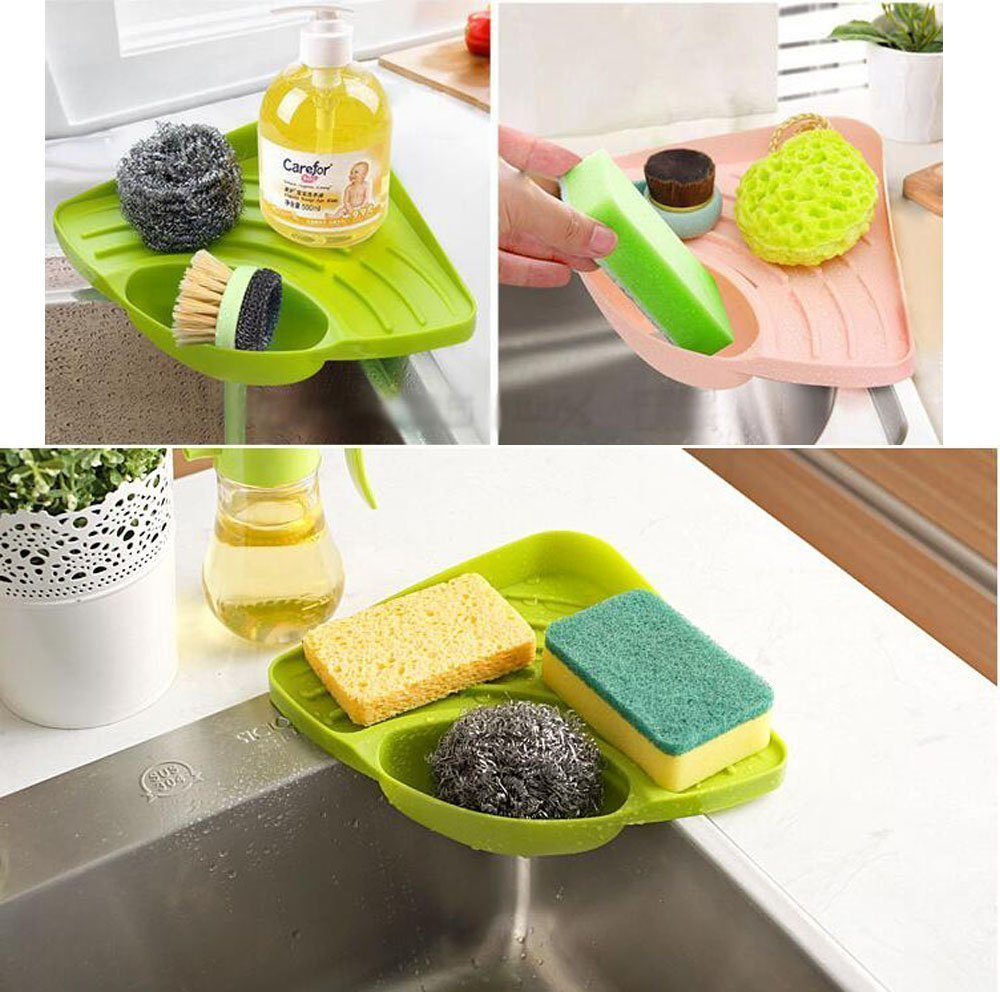 HOMEGIFT Kitchen sink caddy sponge holder scratcher