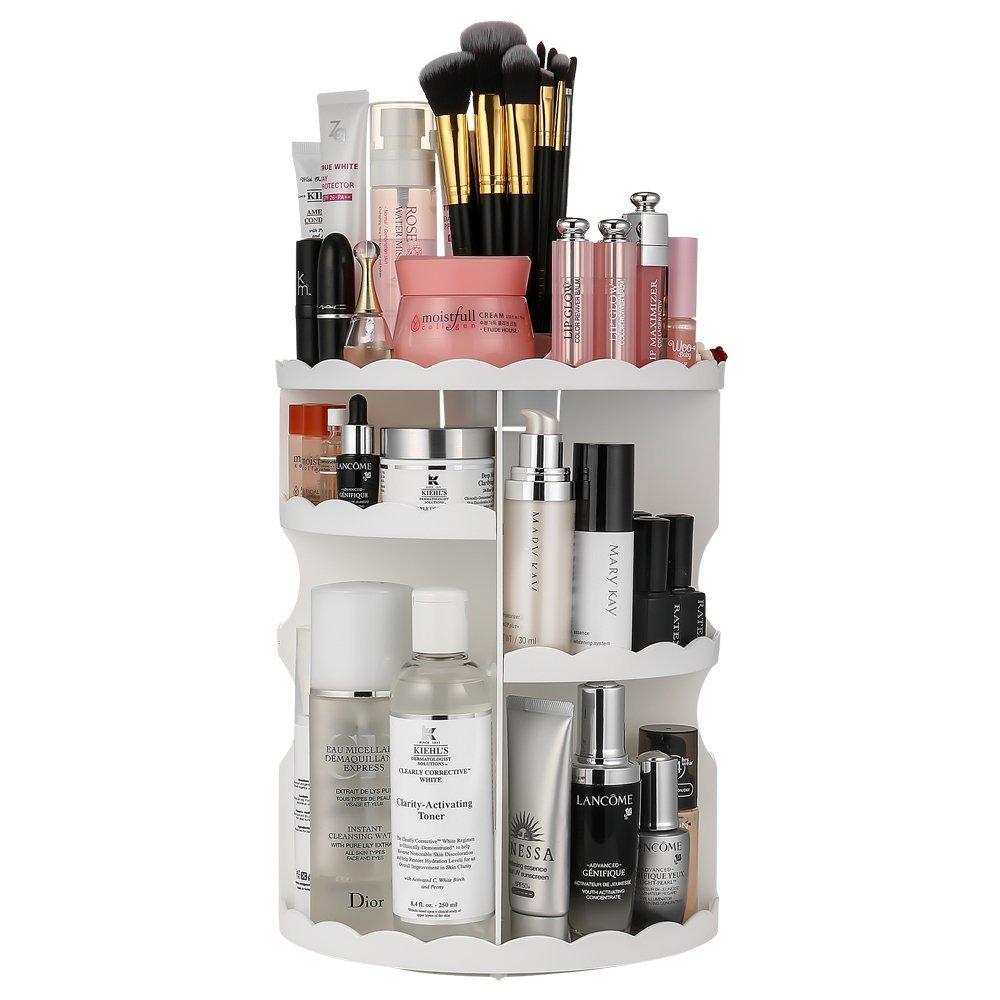 Jerrybox 360-Degree Rotating Makeup Organizer