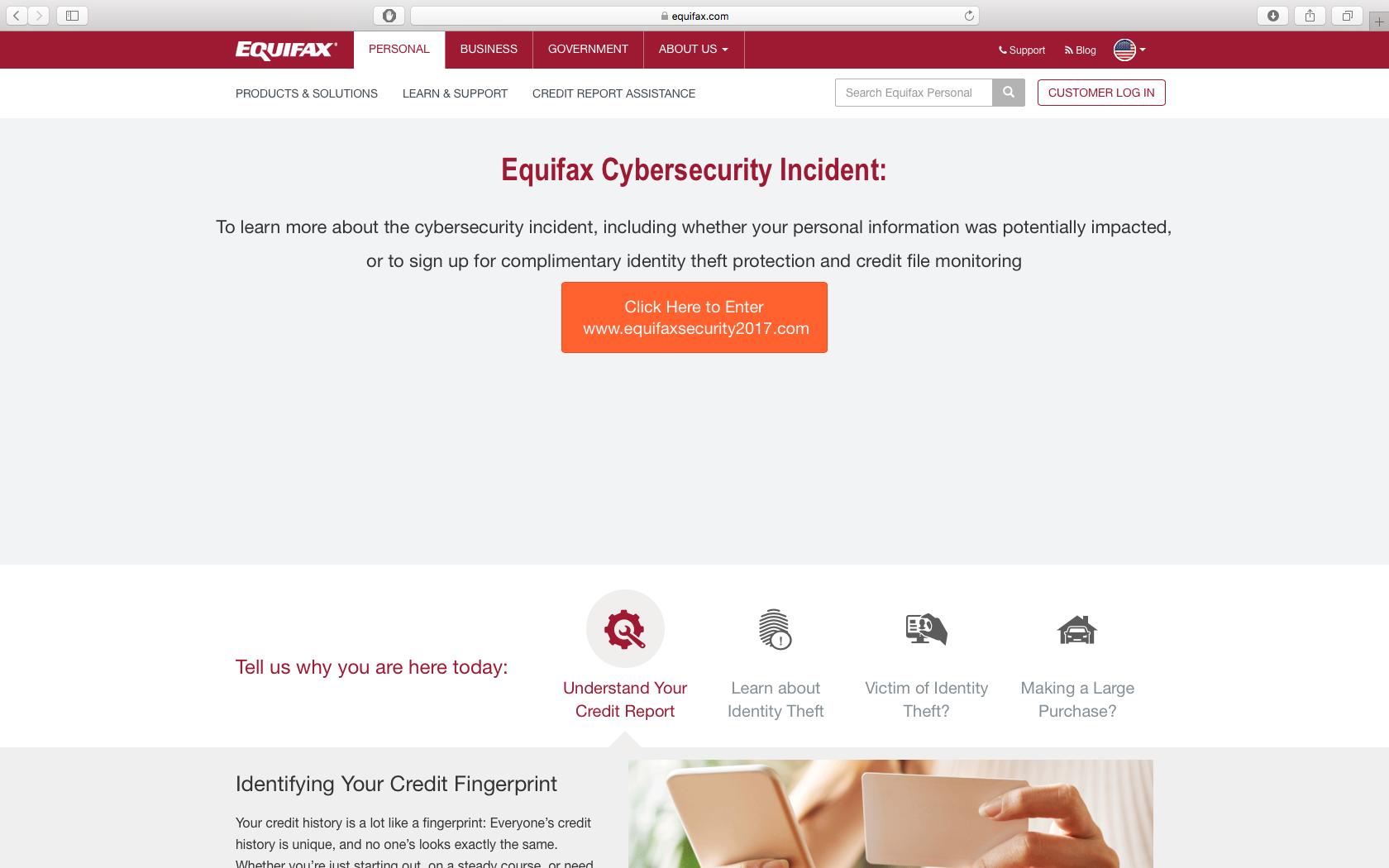 Equifax Hack 2