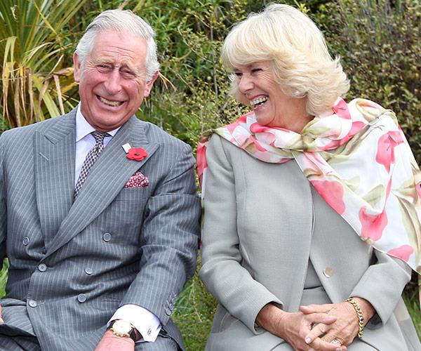 charles and camilla laughing