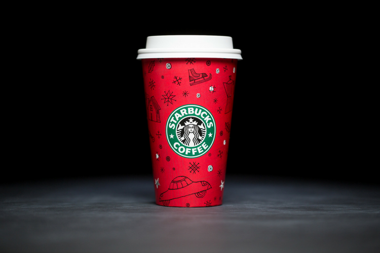 Starbucks Christmas Cups 1999