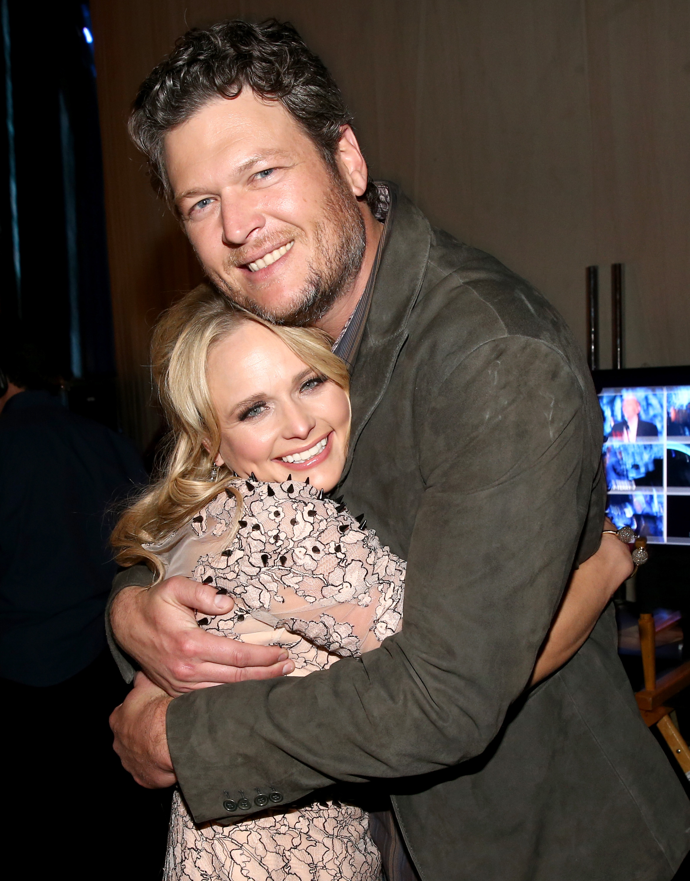 miranda and blake hugging