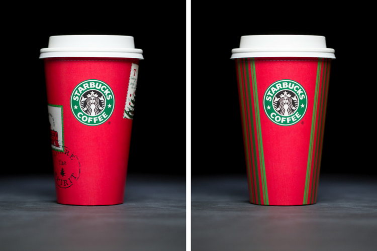 Starbucks Christmas Cups 2001