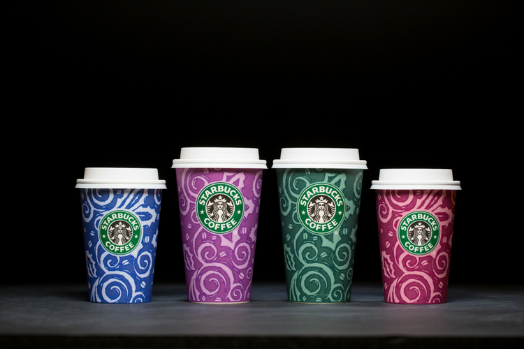 Starbucks Christmas Cups 1997