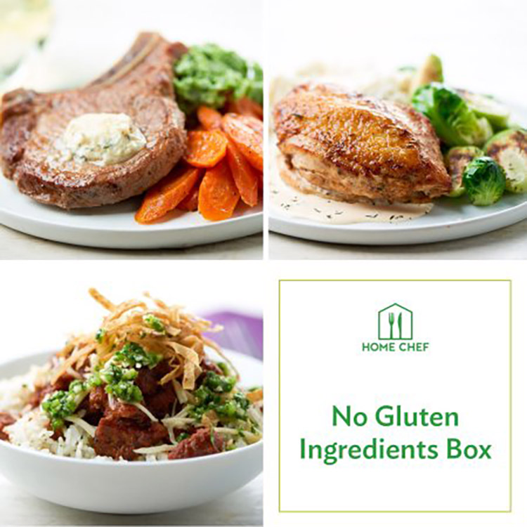 no gluten ingredients box