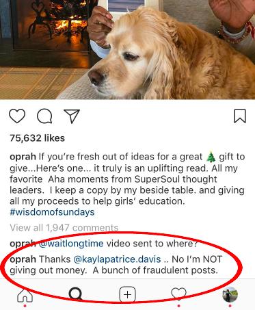 oprah social response