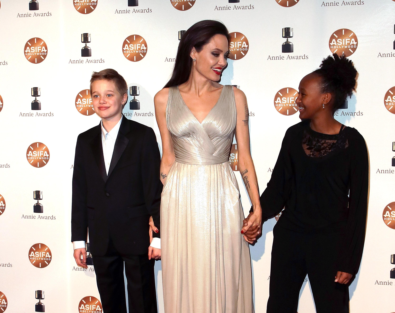 Angelina Jolie Shiloh Zahara Getty
