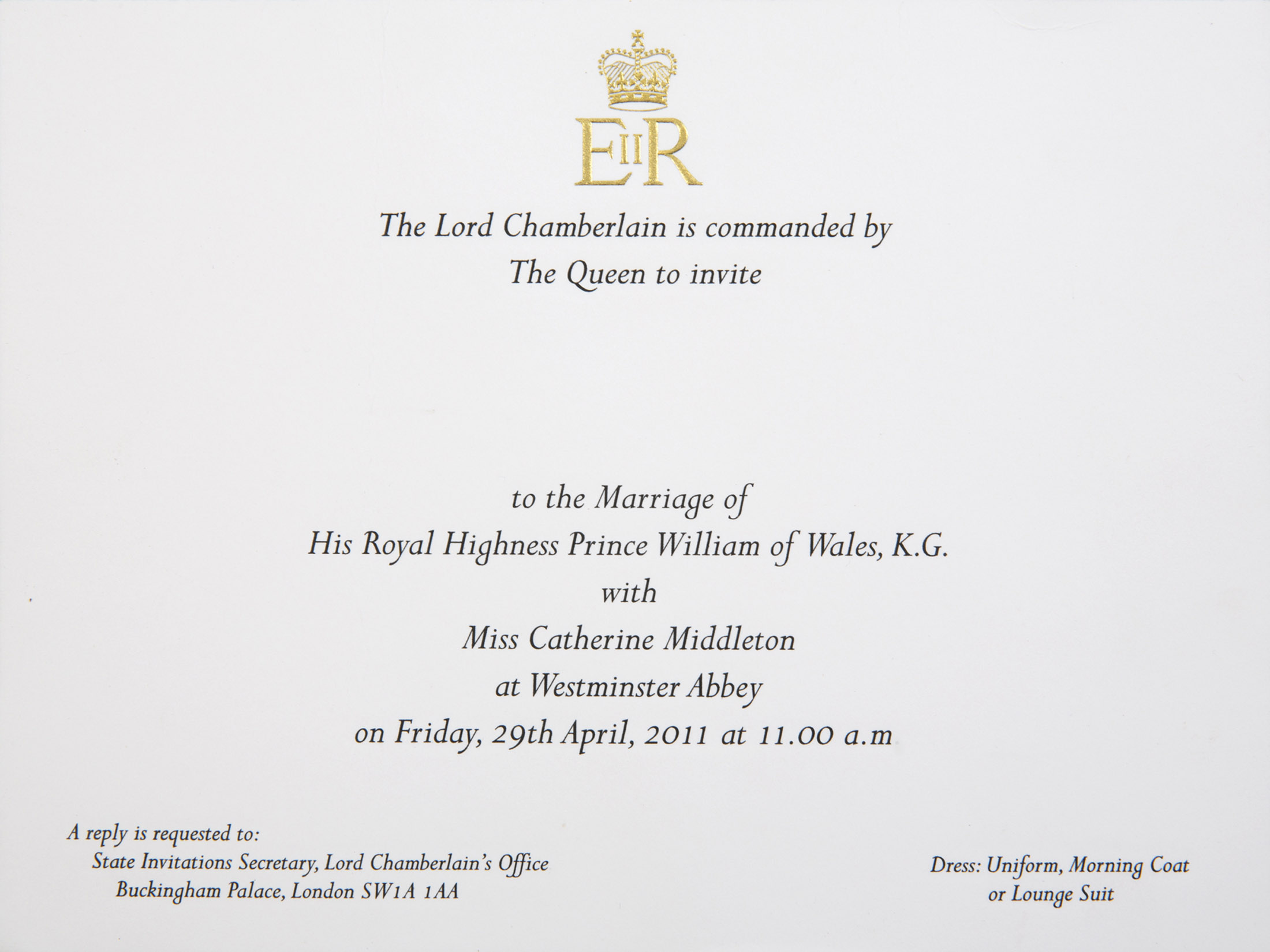 Royal Wedding Invitation Getty Images