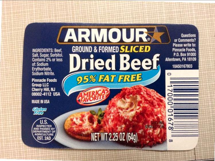 dried beef recall alert