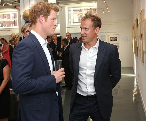 Chris Jackson With Prince Harry