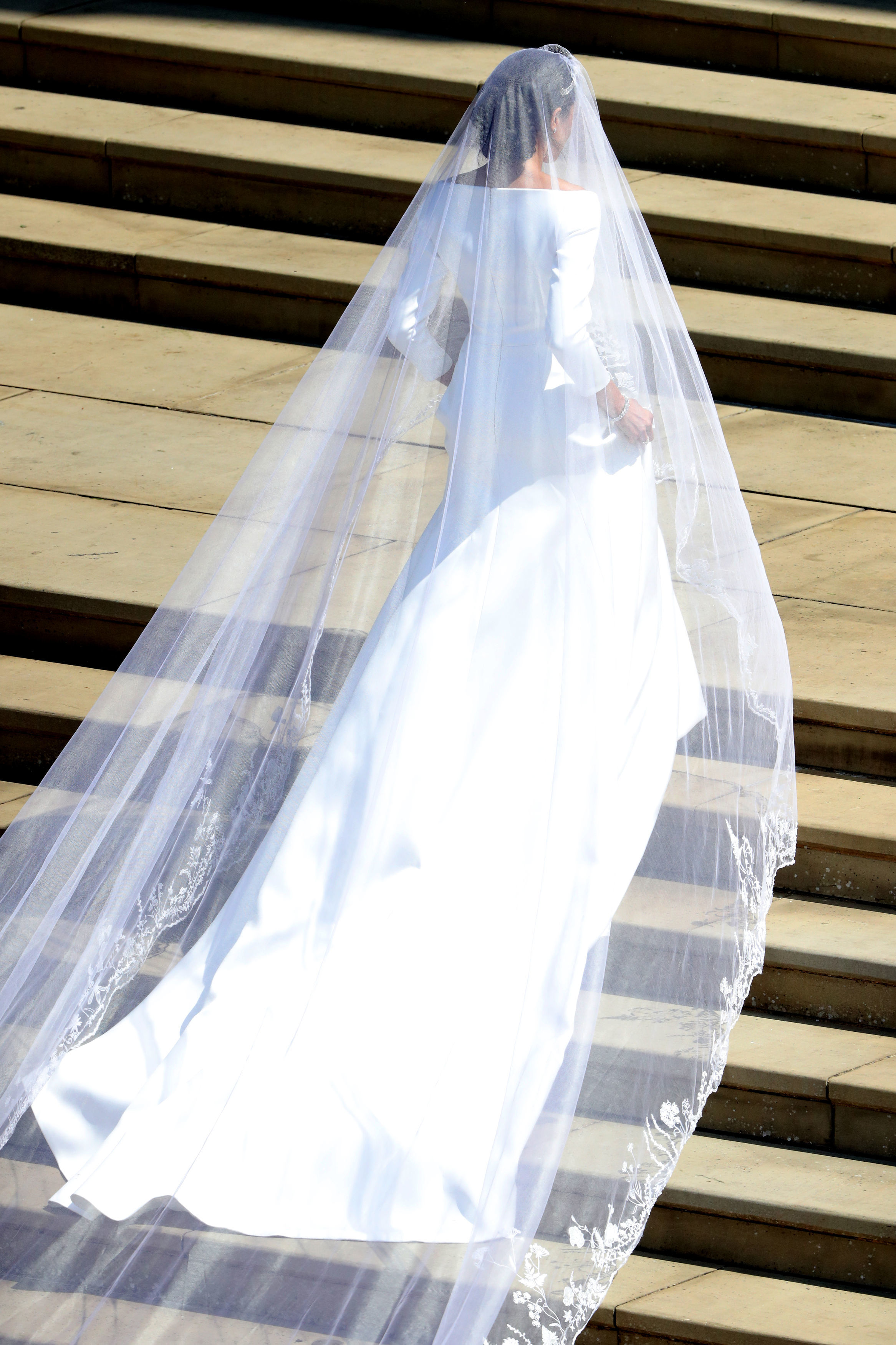 Meghan Markle Wedding Dress Back Shot