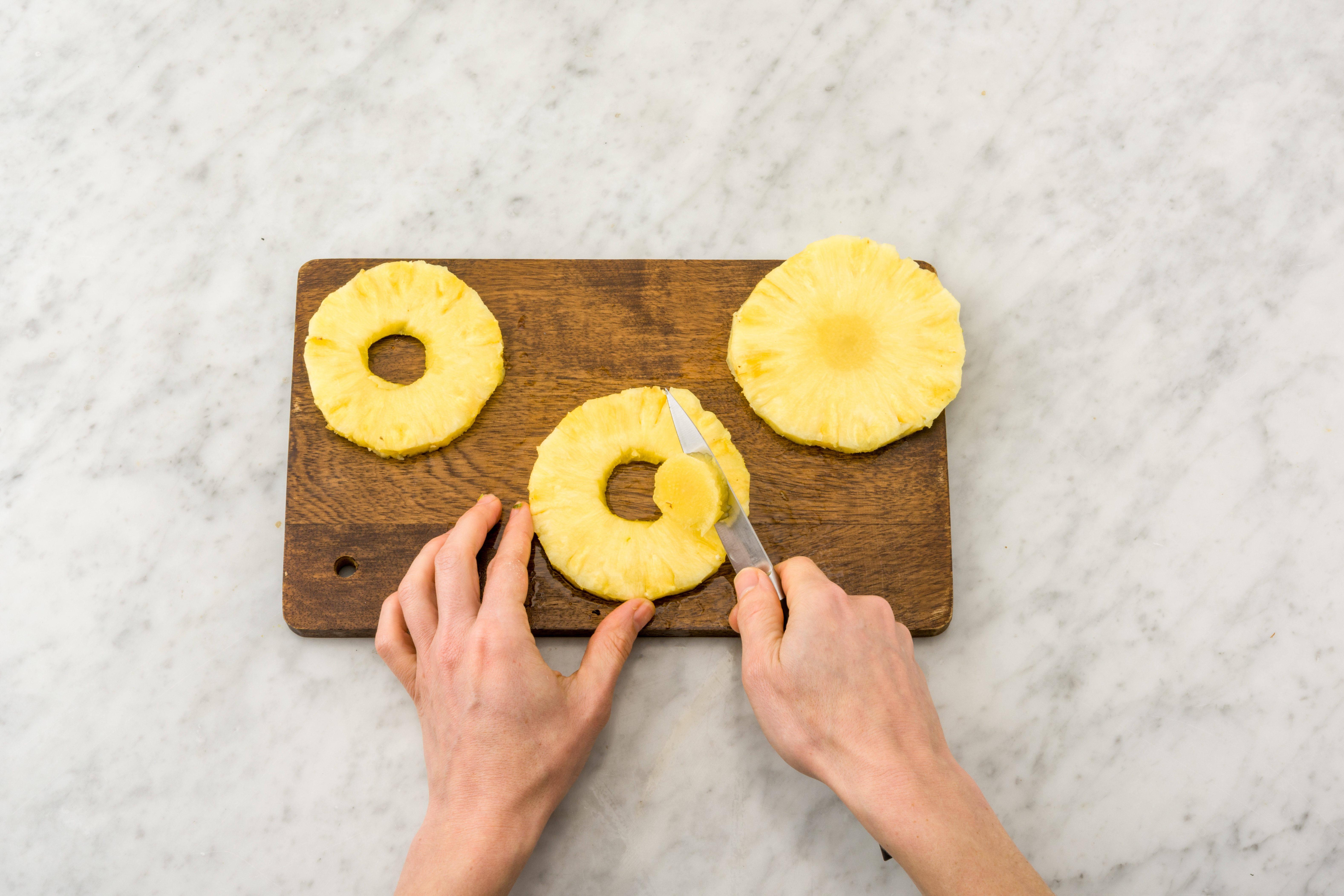 how to cut pineapple fancy