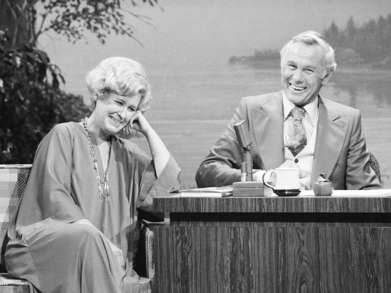 Erma Bombeck and Johnny Carson