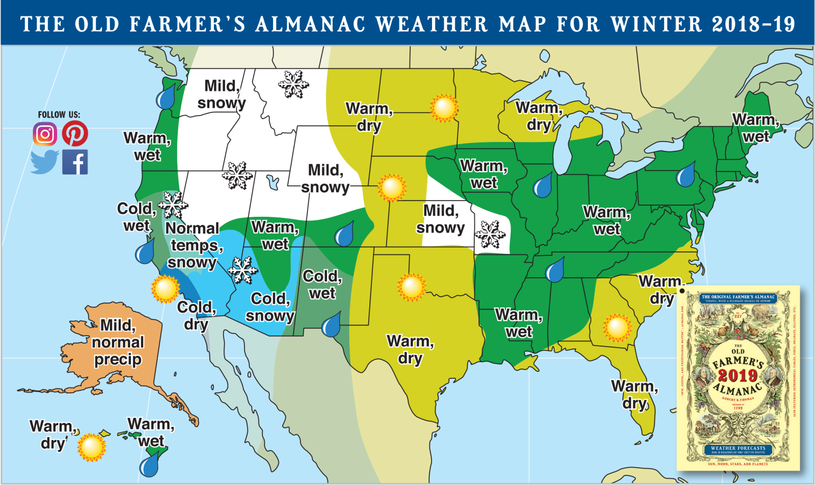 Old Farmer's Almanac Winter Map