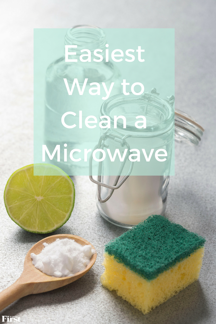 how to clean a microwave pin