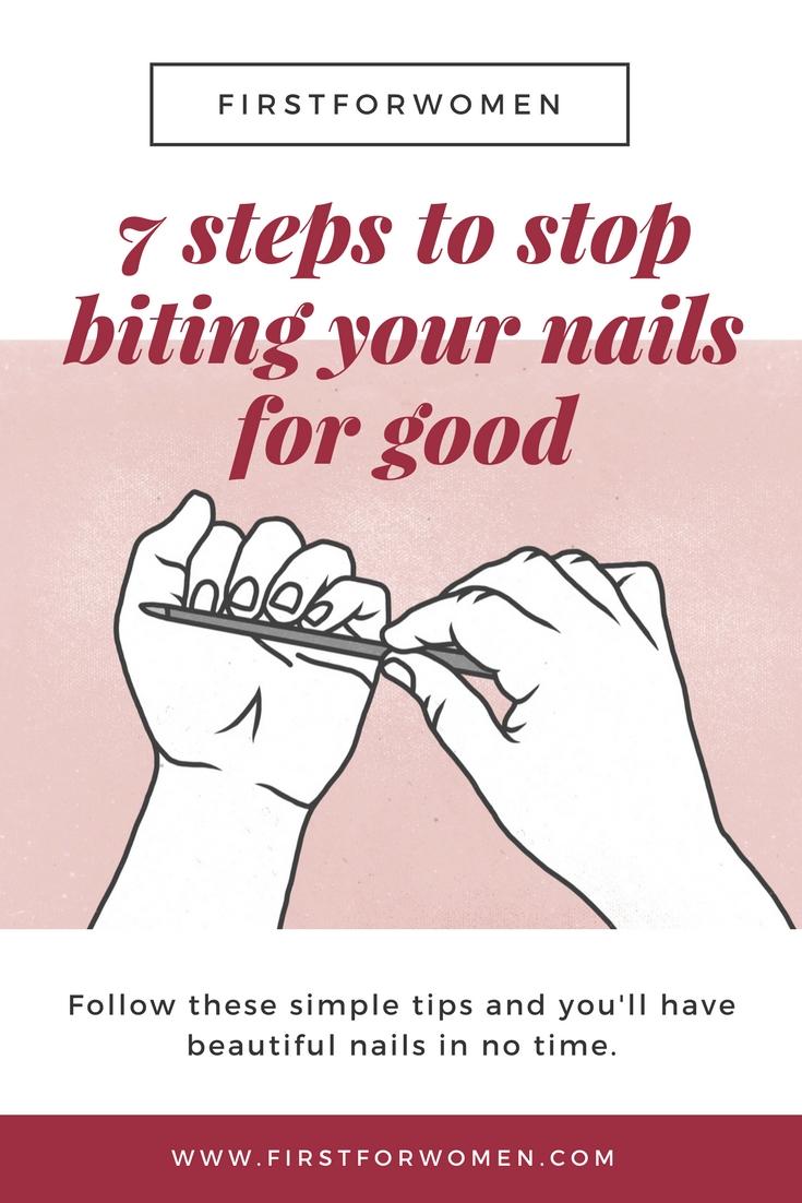 Nail Biting Pin Poster