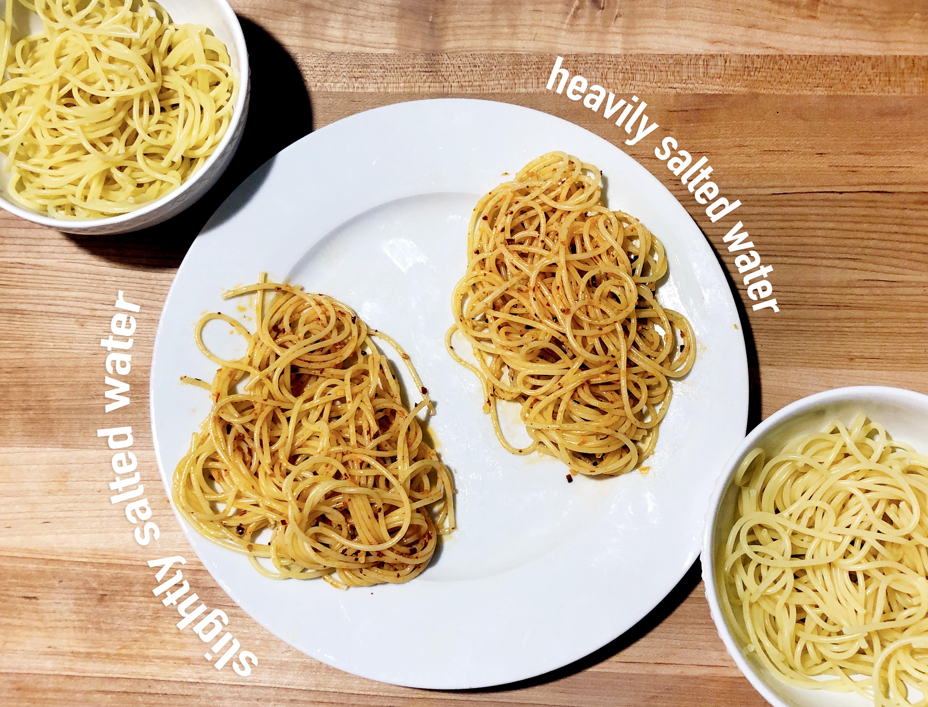 salty pasta water