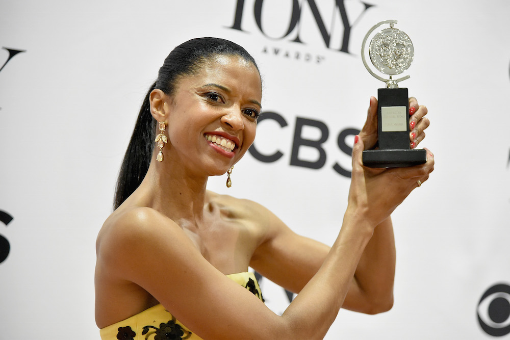 OLTL Renee Elise Goldsberry with Tony Award -WI