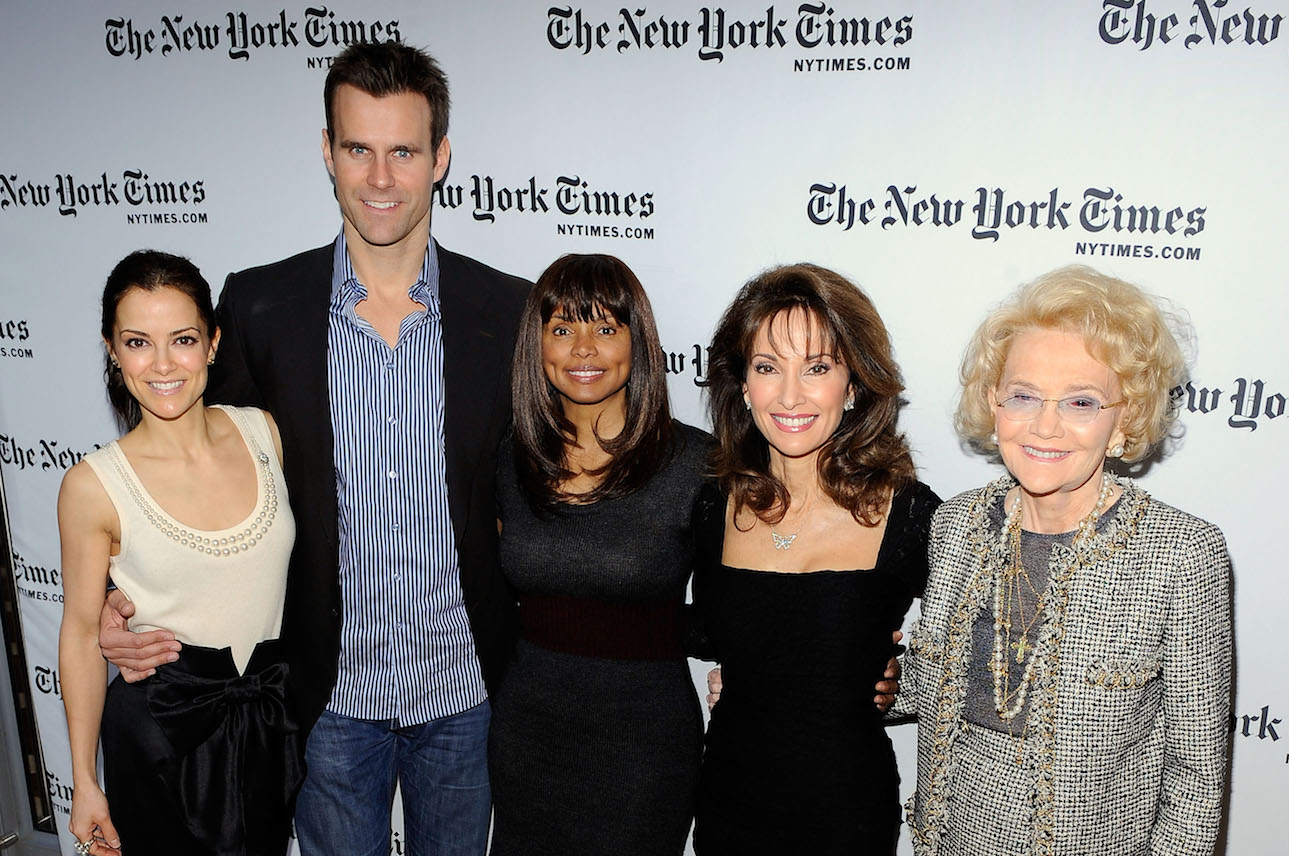 Agnes Nixon with AMC actors - Getty