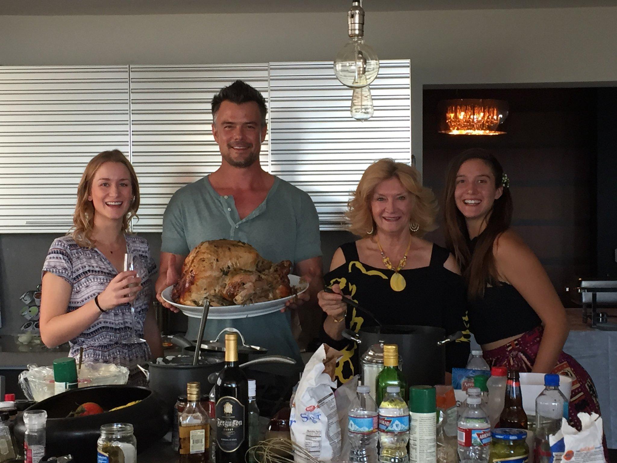 Josh Duhamel Family Thanksgiving - Twitter