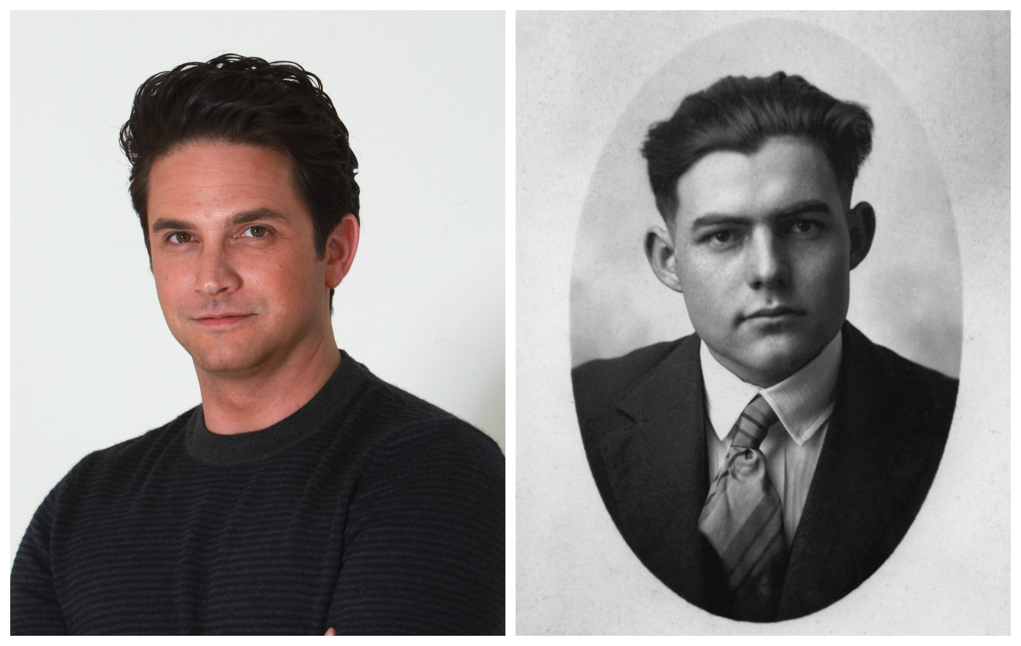 Brandon Barash and Ernest Hemingway - Warren/Getty