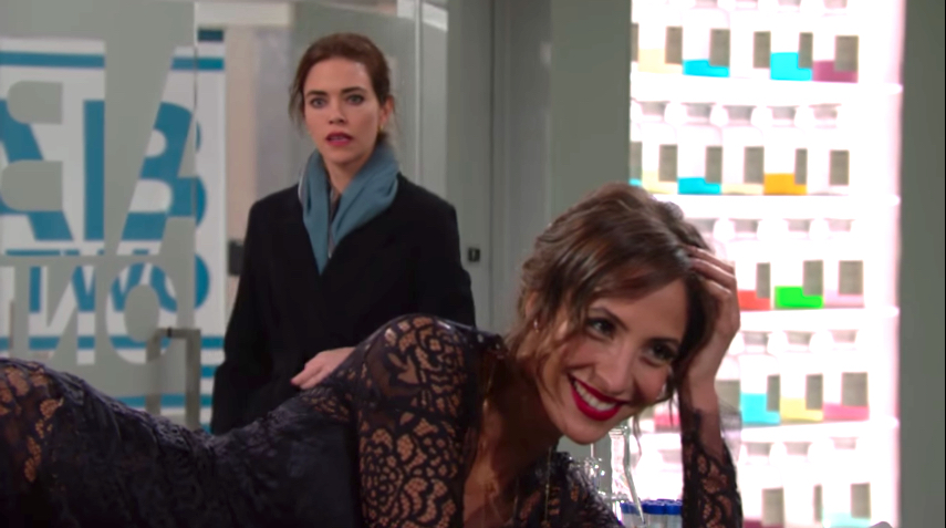 Y&R Victoria and Lily - CBS